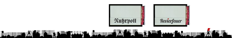 """Streichholzschachtel-Hülle """"Ruhrpott"""" und """"Revierfeuer"""" aus Edelstahl"""