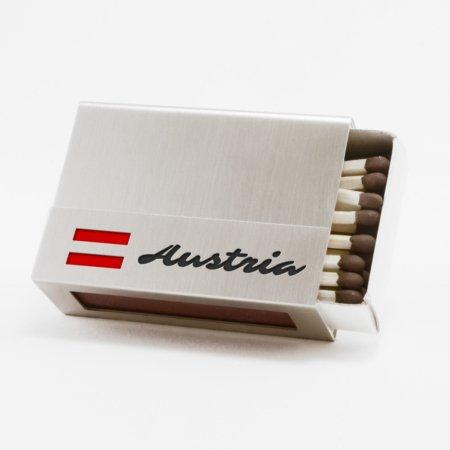 """Streichholzschachtel-Hülle """"Austria"""""""