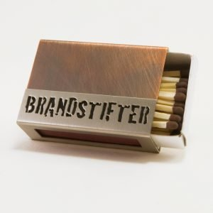 """Streichholzschachtel - Hülle """"Brandstifter"""" aus Kupfer und Edelstahl"""