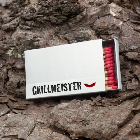 """Kaminholzschachtel - Huelle """"Grillmeister"""" aus Edelstahl"""
