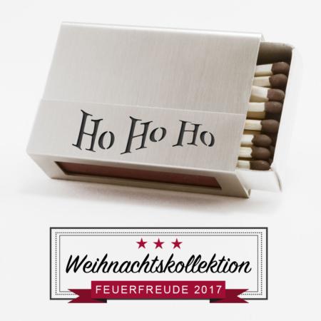 """Streichholzschachtel-Hülle """"Ho Ho Ho"""" aus Edelstahl"""